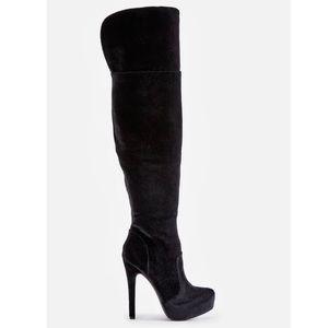 Over the Knee Vetria Heeled Boot